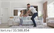 Купить «Father and daughter spending  time together », видеоролик № 33588854, снято 24 января 2020 г. (c) Wavebreak Media / Фотобанк Лори