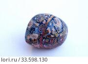 Купить «Leopard jasper. Jasper is an aggregate of microparticles of quartz. Sample.», фото № 33598130, снято 4 апреля 2020 г. (c) age Fotostock / Фотобанк Лори