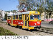 Tatra T3SU (2008 год). Редакционное фото, фотограф Art Konovalov / Фотобанк Лори