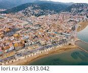 Купить «View from drone of Roses, Costa Brava, Spain», фото № 33613042, снято 2 февраля 2019 г. (c) Яков Филимонов / Фотобанк Лори