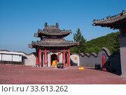 China, Heihe, July 2019: Taoist temple outside the city in Heihe in the summer. Редакционное фото, фотограф Катерина Белякина / Фотобанк Лори