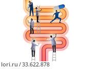 Doctors treating intestines illness - medical illustration. Стоковое фото, фотограф Elnur / Фотобанк Лори