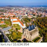 Cityscape of Kutna Hora, Czech Republic (2019 год). Стоковое фото, фотограф Яков Филимонов / Фотобанк Лори