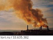 Power plant, smoke from the chimney. Spain (2019 год). Стоковое фото, фотограф Alexander Tihonovs / Фотобанк Лори