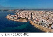 Купить «Aerial panorama of Torrevieja cityscape. Costa Blanca. Spain», фото № 33635402, снято 10 марта 2020 г. (c) Alexander Tihonovs / Фотобанк Лори