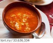 Купить «Castilian garlic soup», фото № 33636334, снято 6 июля 2020 г. (c) Яков Филимонов / Фотобанк Лори