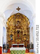 Купить «The church of Santa María de la Mesa, also Santa María de la Meza. At the head of the church, the main altar is erected, a remarkable artistic creation...», фото № 33652722, снято 11 февраля 2020 г. (c) age Fotostock / Фотобанк Лори