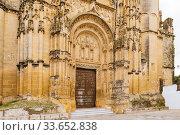 Gothic-Plateresque portal. Basílica de Santa María de la Asunción, erected after the Reconquista on a Visigothic temple and the remains of a 13th and 14th... Стоковое фото, фотограф Marcelino Ramírez / age Fotostock / Фотобанк Лори