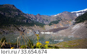 Купить «Black Glacier and meltwater lake», фото № 33654674, снято 5 февраля 2017 г. (c) Яков Филимонов / Фотобанк Лори