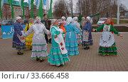 Купить «Башкирский народный танец в традиционных одеждах», видеоролик № 33666458, снято 26 января 2020 г. (c) Алексей Кокорин / Фотобанк Лори