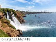Водопад Дюден в Анталье. Турция (2019 год). Стоковое фото, фотограф Евгений Ткачёв / Фотобанк Лори