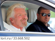 Sofia, Bulgaria - 19 May 2017: British businessman Richard Branson is seen after arriving at Sofia Airport. Стоковое фото, фотограф Zoonar.com/Cylonphoto / age Fotostock / Фотобанк Лори