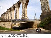 Акведук Свободной Воды (Aqueduto das Águas Livres), Лиссабон, Португалия (2018 год). Редакционное фото, фотограф Евгений Кашпирев / Фотобанк Лори