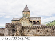 The Svetitskhoveli Cathedral, Eastern Orthodox cathedral in the historic town of Mtskheta, Georgia. Стоковое фото, фотограф Николай Коржов / Фотобанк Лори