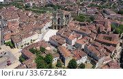Aerial view on the city Auch. France (2019 год). Стоковое видео, видеограф Яков Филимонов / Фотобанк Лори