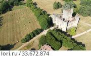 Купить «Medieval architecture, Chateau de Roquetaillade, France, at sunny summer day», видеоролик № 33672874, снято 18 июля 2019 г. (c) Яков Филимонов / Фотобанк Лори