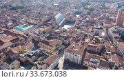 Купить «Panoramic aerial view of ancient Padua downtown on sunny autumn day, Italy», видеоролик № 33673038, снято 5 сентября 2019 г. (c) Яков Филимонов / Фотобанк Лори