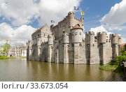 The Gravensteen is a castle in Ghent. Стоковое фото, фотограф Алеся Дмитриенко / Фотобанк Лори