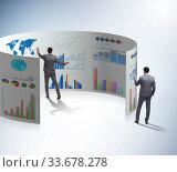Купить «Concept of business charts and finance visualisation», фото № 33678278, снято 10 июля 2020 г. (c) Elnur / Фотобанк Лори