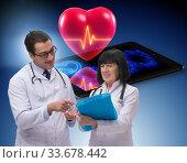Telemedicine concept with remote monitoring of heart condition. Стоковое фото, фотограф Elnur / Фотобанк Лори