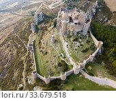 Famous fortress Castillo de Loarre in Navarre. Aragon. Spain (2018 год). Стоковое фото, фотограф Яков Филимонов / Фотобанк Лори