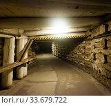 Illuminated tunnels in old mines. Стоковое фото, фотограф Яков Филимонов / Фотобанк Лори