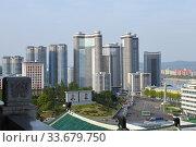 Купить «Pyongyang, North Korea», фото № 33679750, снято 29 апреля 2019 г. (c) Знаменский Олег / Фотобанк Лори