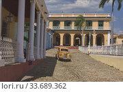 Купить «Vintage car in UNESCO World Heritage Trinidad, Cuba.», фото № 33689362, снято 18 марта 2020 г. (c) age Fotostock / Фотобанк Лори