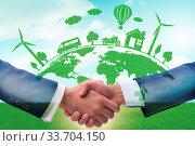Купить «Paris agreement concept in the ecology and environment», фото № 33704150, снято 12 июля 2020 г. (c) easy Fotostock / Фотобанк Лори
