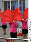 Купить «Pyongyang, North Korea. Girls», фото № 33705594, снято 30 апреля 2019 г. (c) Знаменский Олег / Фотобанк Лори