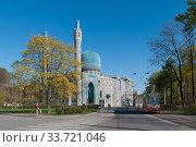 Купить «Соборная мечеть на Кронверкском проспекте. Санкт-Петербург», фото № 33721046, снято 10 мая 2020 г. (c) Румянцева Наталия / Фотобанк Лори