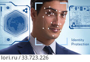 Купить «Concept of face recognition software and hardware», фото № 33723226, снято 5 июня 2020 г. (c) Elnur / Фотобанк Лори