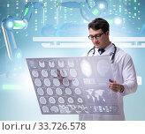 Купить «Telehealth concept with doctor doing remote check-up», фото № 33726578, снято 4 июня 2020 г. (c) Elnur / Фотобанк Лори