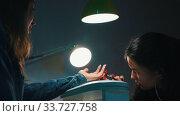 Купить «Manicure in the beauty salon - applying base on the nail», видеоролик № 33727758, снято 3 июля 2020 г. (c) Константин Шишкин / Фотобанк Лори