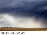 Купить «Prairie Storm Clouds Canada Saskatchewan Summer Warnings», фото № 33729294, снято 2 июня 2020 г. (c) age Fotostock / Фотобанк Лори