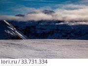 Купить «Snowy winter French Alps, ski resort Flaine, Grand Massif area within sight of Mont Blanc, Haute Savoie, France», фото № 33731334, снято 2 июня 2020 г. (c) easy Fotostock / Фотобанк Лори