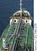 Купить «Top view of fuel oil pipelines on deck of fuel oil bunker vessel, Piraeus port, Athens, Greece.», фото № 33744270, снято 29 сентября 2019 г. (c) age Fotostock / Фотобанк Лори