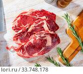 Raw boneless beef. Стоковое фото, фотограф Яков Филимонов / Фотобанк Лори