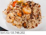 Купить «Seafood rice», фото № 33748202, снято 14 декабря 2018 г. (c) Яков Филимонов / Фотобанк Лори