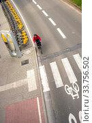 Купить «BRUSSELS, BELGIUM - February 24, 2014:City Bike docking station in Brussels.», фото № 33756502, снято 24 февраля 2014 г. (c) easy Fotostock / Фотобанк Лори