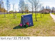 Купить «Памятный знак в честь морских пехотинцев всех флотов России и десантников Санкт-Петербурга, погибших в локальных войнах и конфликтах. Санкт-Петербург», фото № 33757678, снято 6 мая 2020 г. (c) Сергей Афанасьев / Фотобанк Лори