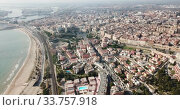 Купить «Aerial view of the spanish city of Tarragona. Spain», видеоролик № 33757918, снято 17 января 2019 г. (c) Яков Филимонов / Фотобанк Лори