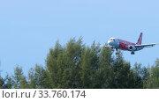 Купить «Airbus 320 approaching over ocean», видеоролик № 33760174, снято 30 ноября 2019 г. (c) Игорь Жоров / Фотобанк Лори