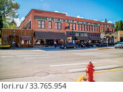 Buffalo, WY, USA - June 2, 2019: The Occidental Hotel Lodging and Dining along the city. Стоковое фото, фотограф Zoonar.com/ImgesByCheri.com / age Fotostock / Фотобанк Лори