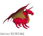 Rot brauner Flugdrache mit Krallen und Zähnen. Стоковое фото, фотограф Zoonar.com/Dr. Norbert Lange / easy Fotostock / Фотобанк Лори