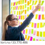 Купить «Beautiful female employee with many conflicting priorities», фото № 33770486, снято 16 августа 2018 г. (c) Elnur / Фотобанк Лори