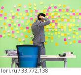 Купить «Businessman with many conflicting priorities», фото № 33772138, снято 24 мая 2018 г. (c) Elnur / Фотобанк Лори