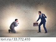 Купить «Businessman with gun threatening his competitor», фото № 33772410, снято 27 мая 2020 г. (c) Elnur / Фотобанк Лори