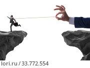 Купить «Boss holding his employee in retention concept», фото № 33772554, снято 4 июня 2020 г. (c) Elnur / Фотобанк Лори