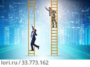 Купить «Career competition in business environment», фото № 33773162, снято 29 мая 2020 г. (c) Elnur / Фотобанк Лори